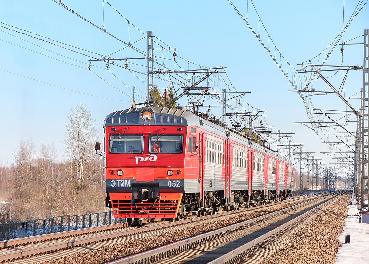 Электропоезд ЭТ2М-052 на перегоне Дорошиха - Лихославль