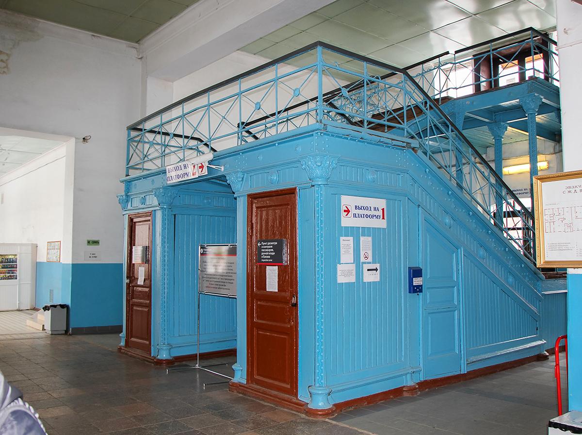 Интерьер вокзала станции Вышний Волочёк
