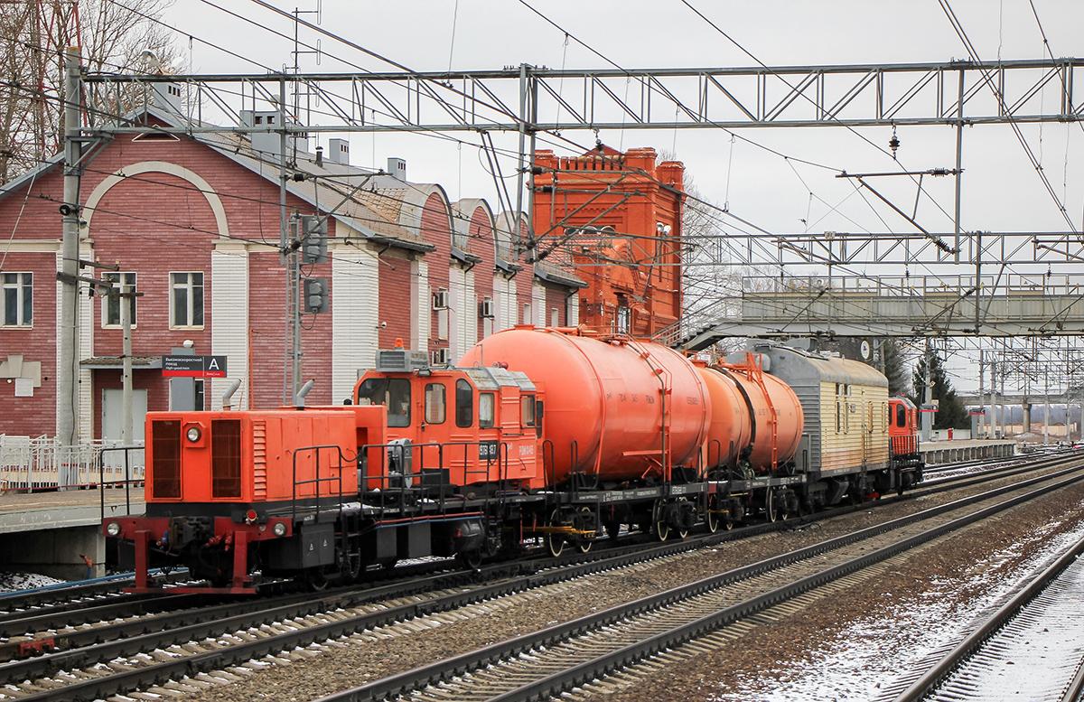 Рельсоочистительные машины РОМ3, станция Вышний Волочёк