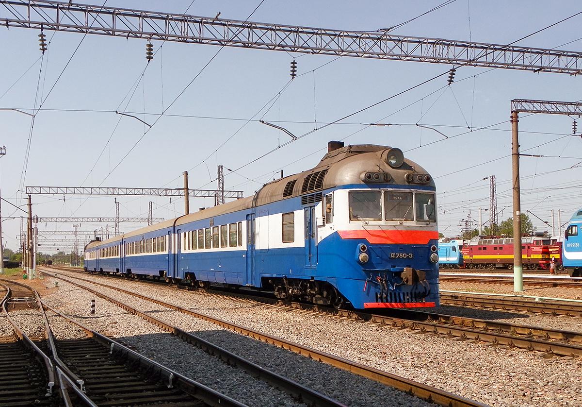 Дизель-поезд Д1-750 на станции Рязань-II