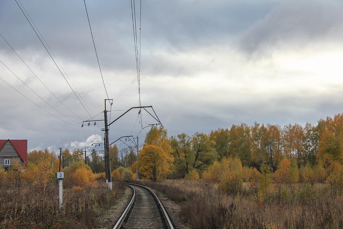 Вид от начала Конаковской ветки в сторону станции Решетниково