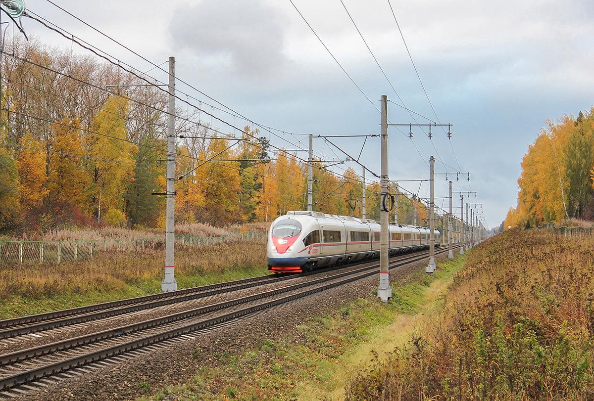 Электропоезд ЭВС1-06 «Сапсан» на перегоне Завидово - Решетниково