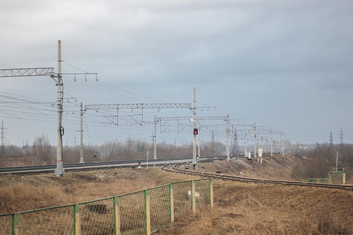 Подъездной путь от платформы Цна, перегон Леонтьево - Вышний Волочёк