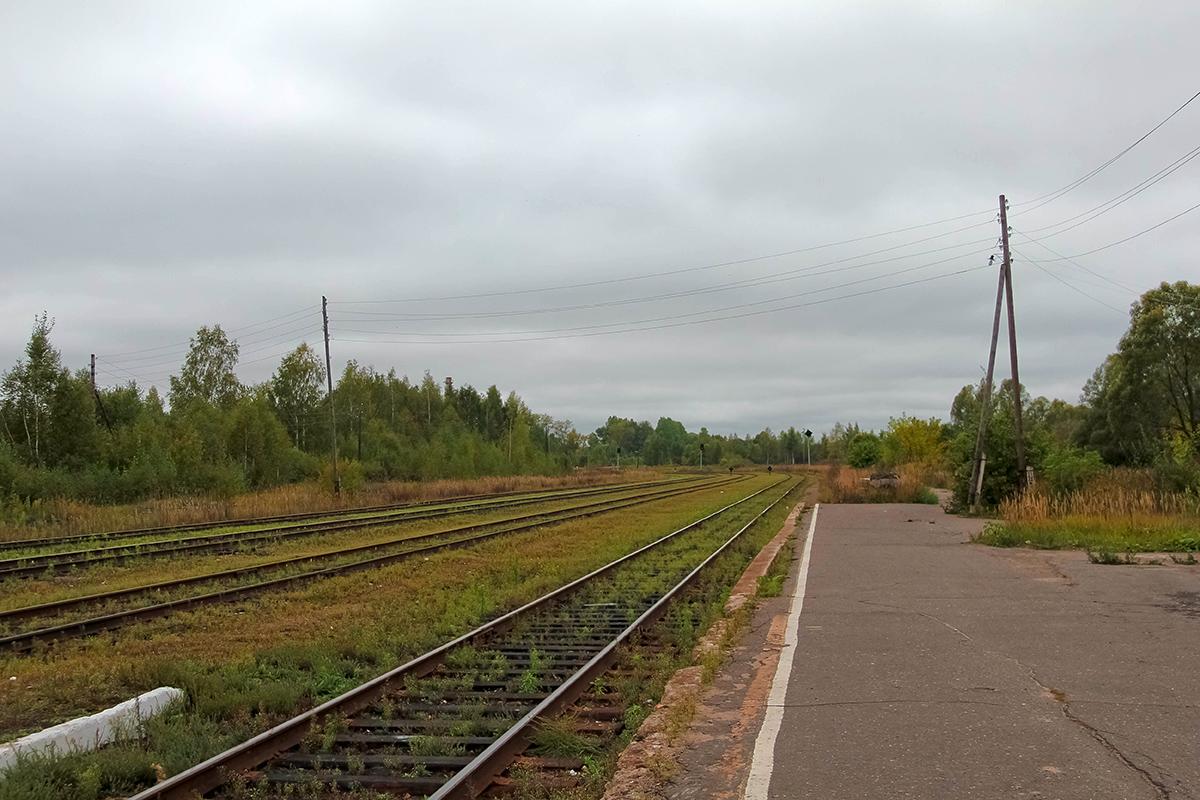 Станция Калязин, вид в сторону ст. Калязин-пост
