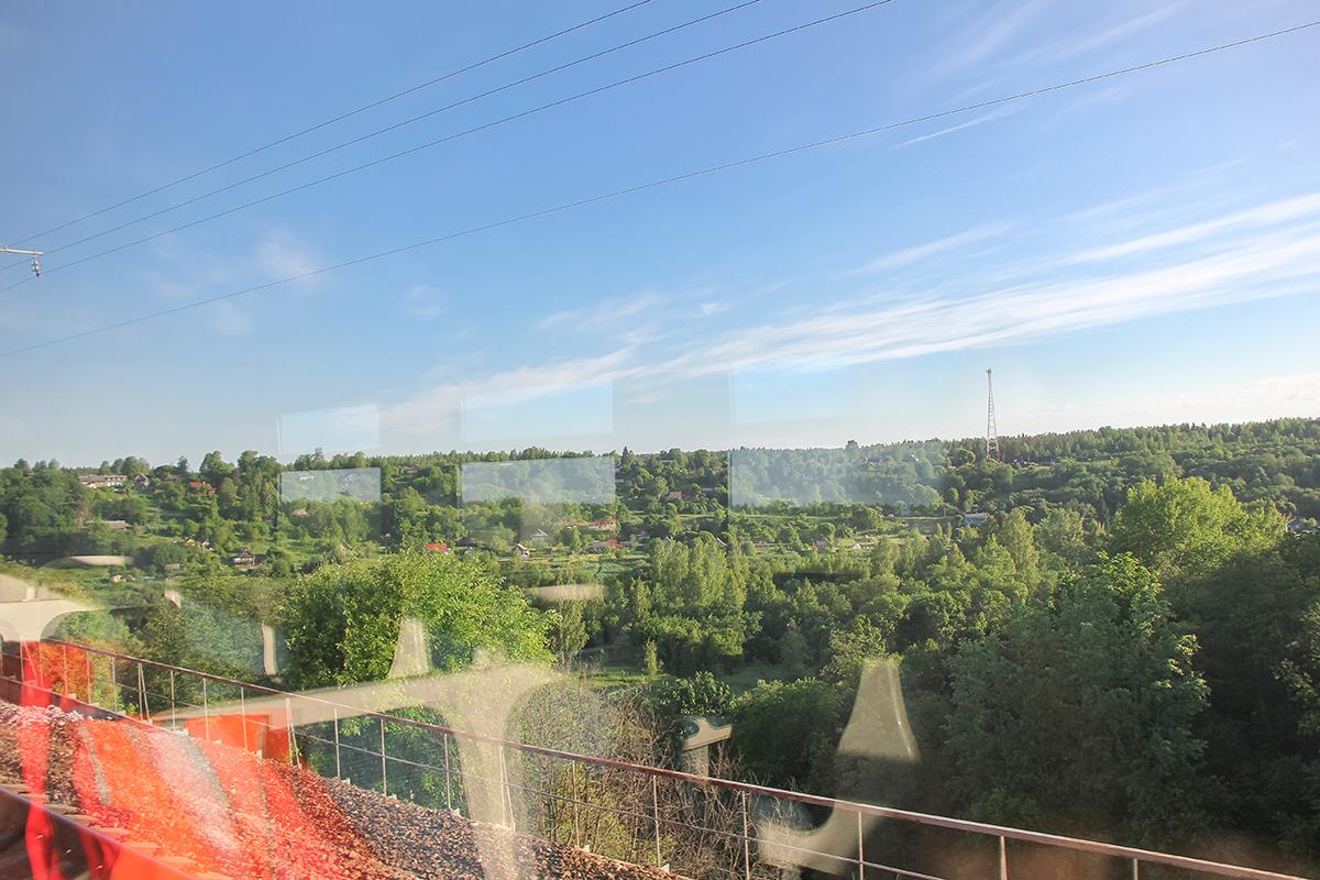 Вид с Мстинского моста