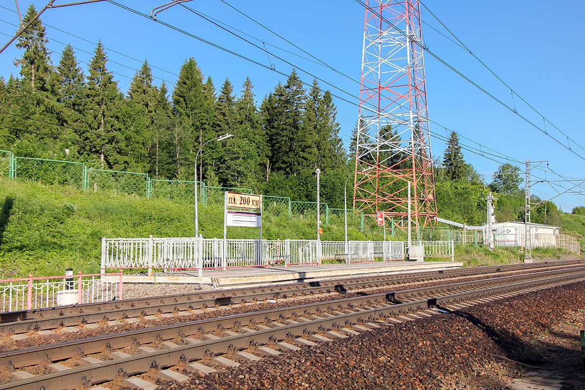 Платформа 200 км. «На Окуловку», перегон Мстинский мост — Торбино