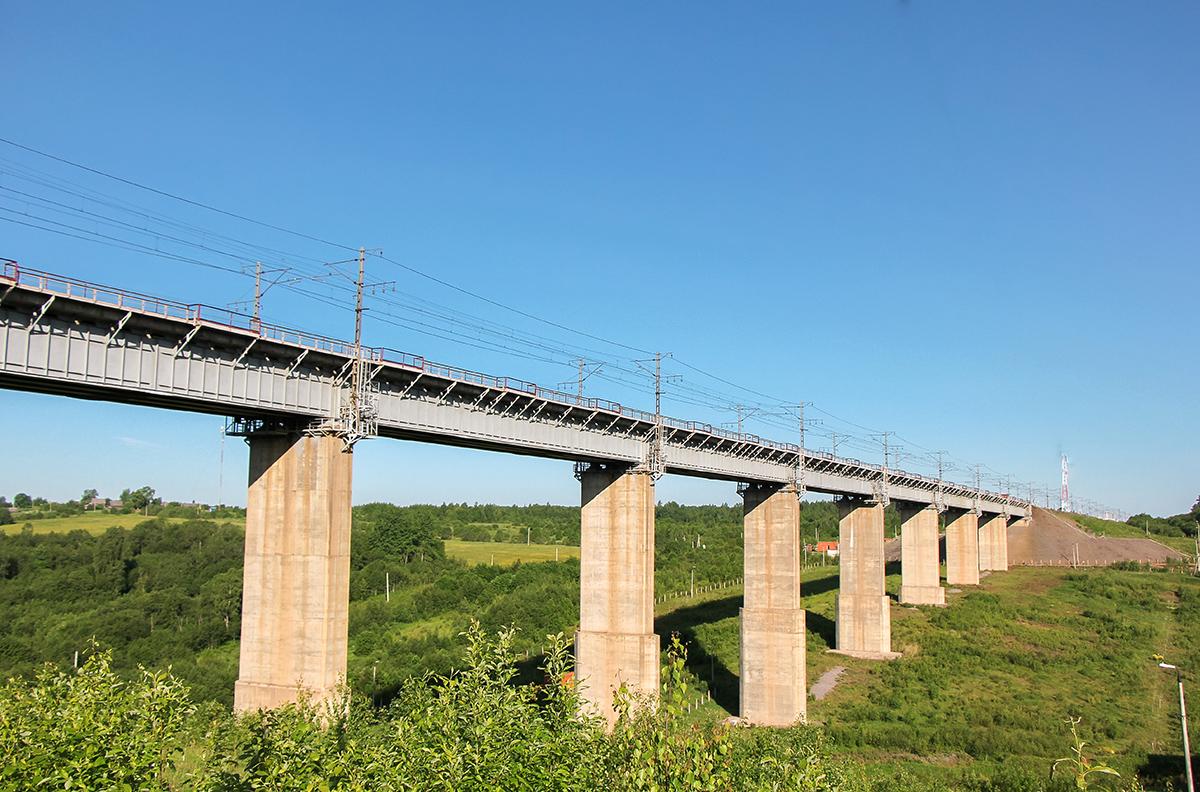 Веребьинский мост, перегон Мстинский мост - Торбино