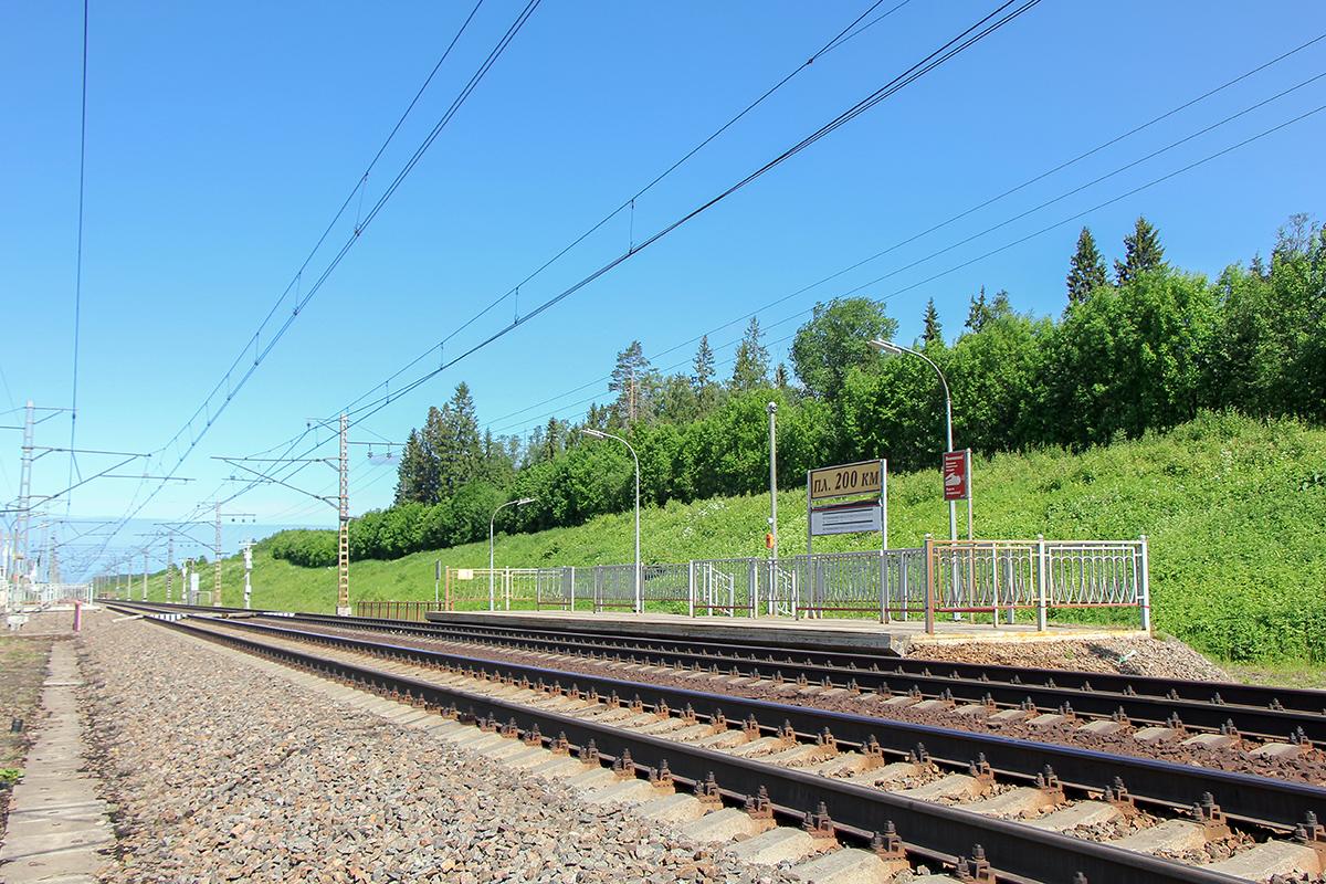 Платформа 200 км. «На Малую Вишеру», перегон Торбино - Мстинский мост