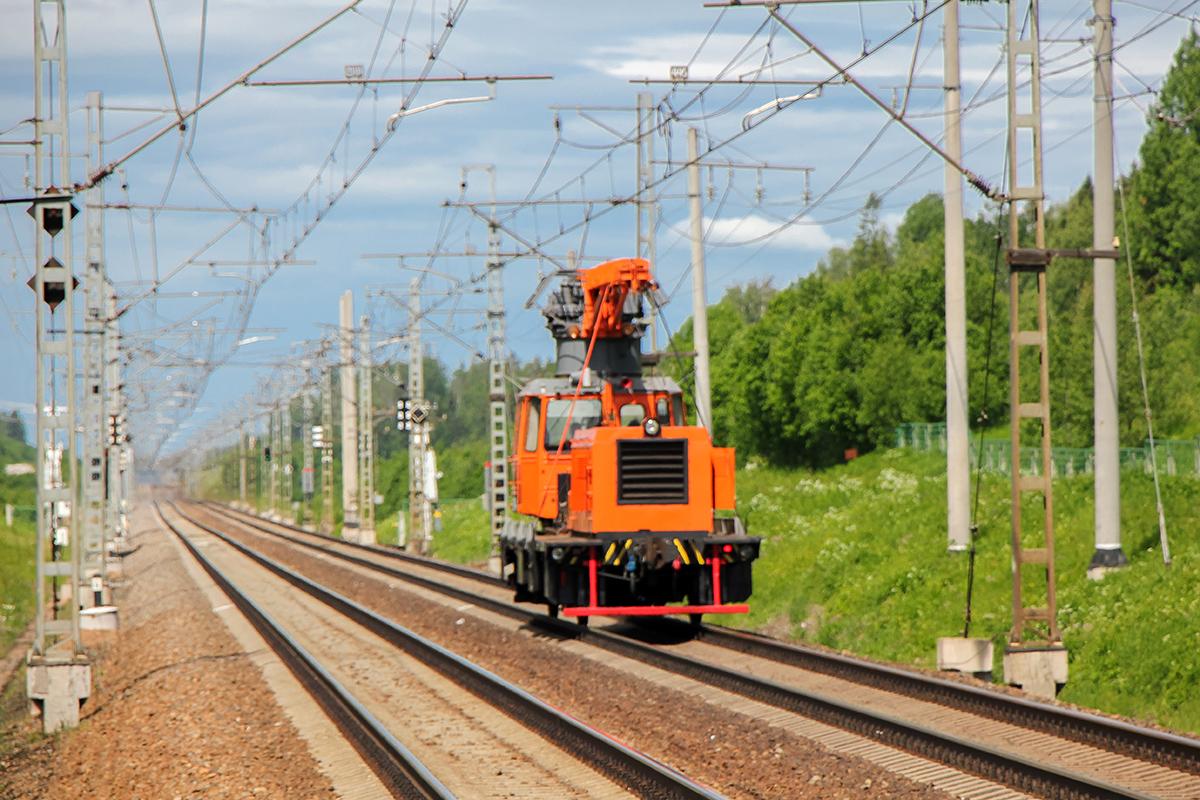 Дрезина АДМ на перегоне Торбино - Мстинский мост
