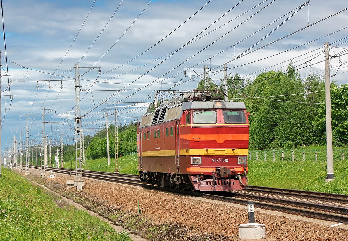 Электровоз ЧС2Т-1016 близ пл. 204 км, перегон Мстинский мост - Торбино