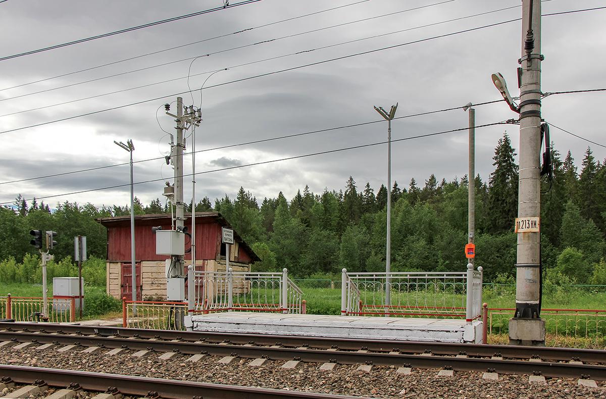 Платформа 213 км. «На Окуловку», перегон Мстинский мост - Торбино