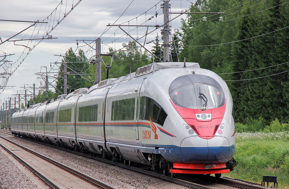 "Электропоезд ЭВС2-01 ""Сапсан"", перегон Мстинский мост - Торбино"