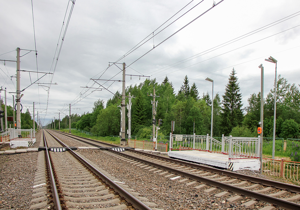 Платформа 213 км. «На Малую Вишеру», перегон Торбино - Мстинский мост