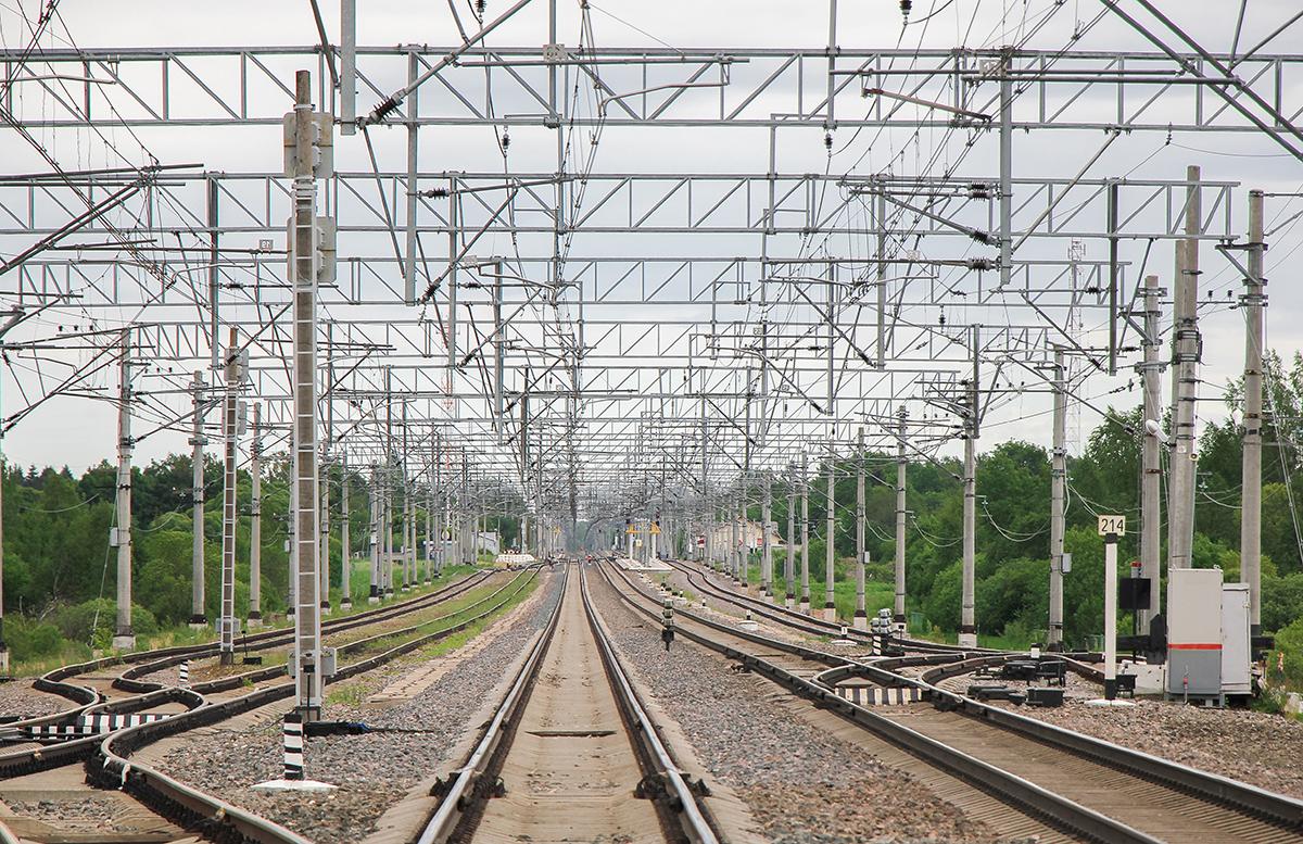 Вид на станцию Торбино со стороны Санкт-Петербурга