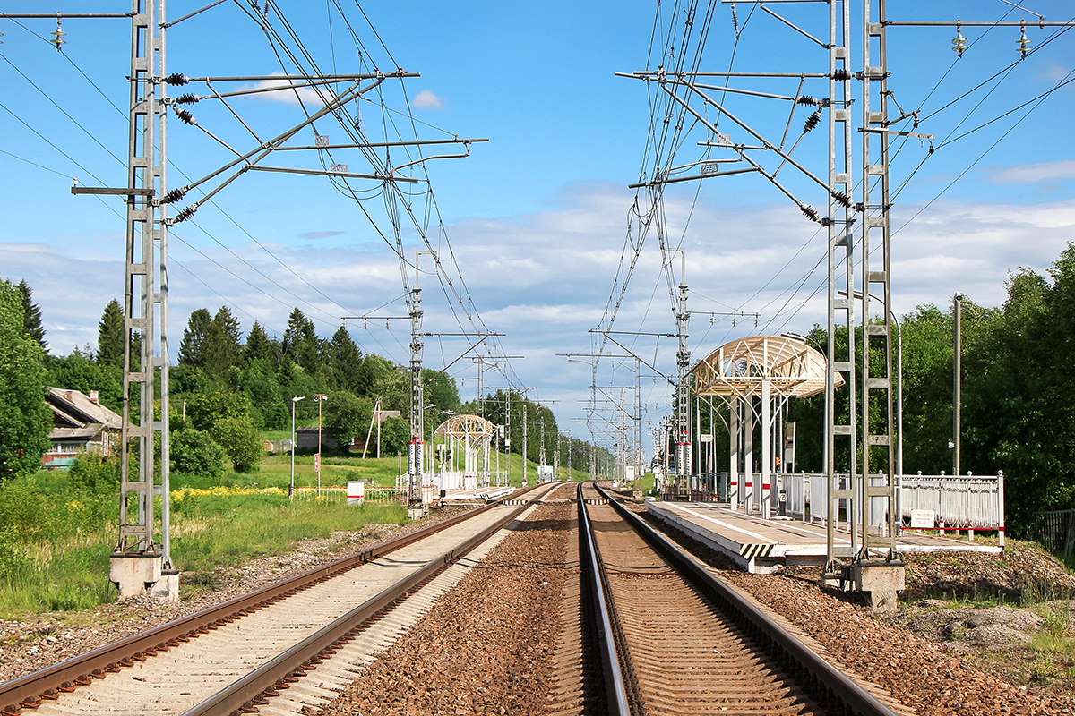 Платформа Вялка, вид в сторону Москвы