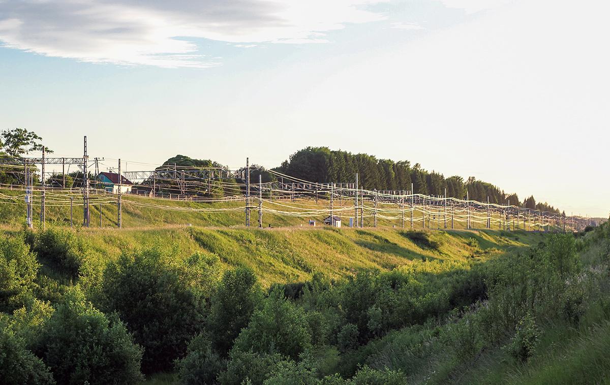 Вид на станцию Мстинский мост