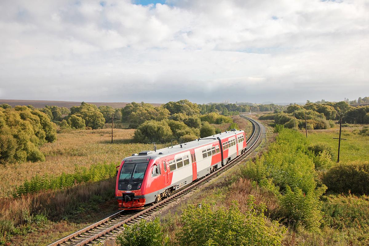Дизель-поезд РА2-036, перегон Миллионная - Павелец-II-Сызранский