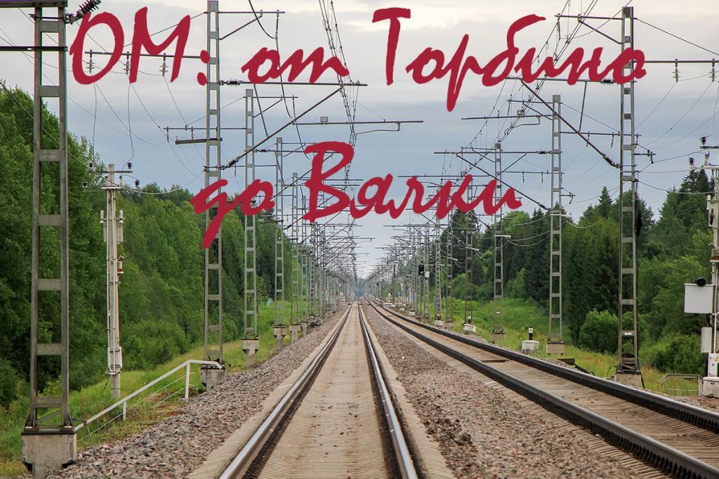 Перегон станция Торбино - платформа Вялка