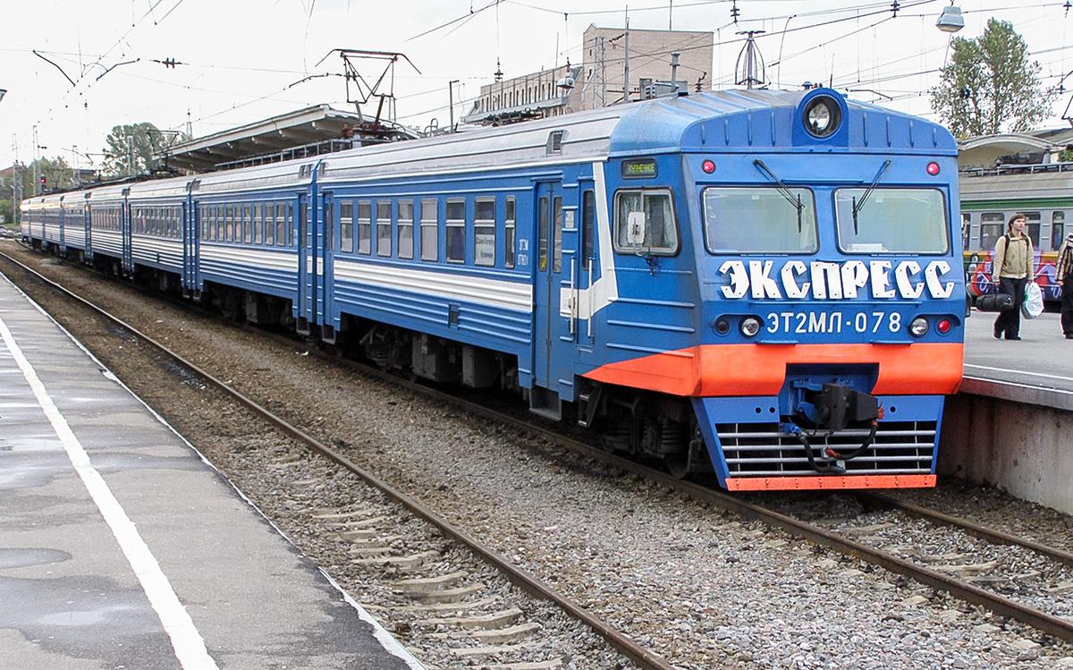Электропоезд ЭТ2МЛ-078 на станции Санкт-Петербург-Финляндский (Финляндский вокзал)