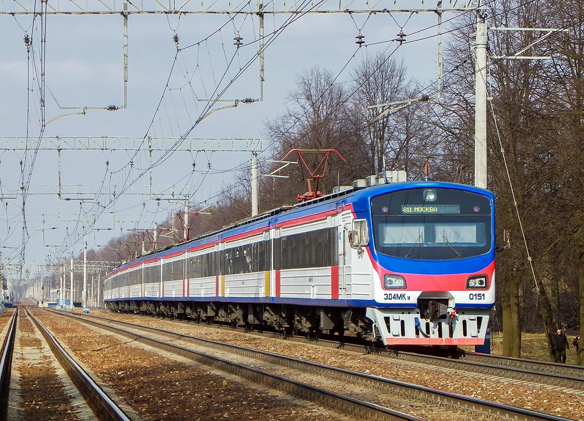 Электропоезд ЭД4МКУ-0151, перегон Мытищи - Пушкино
