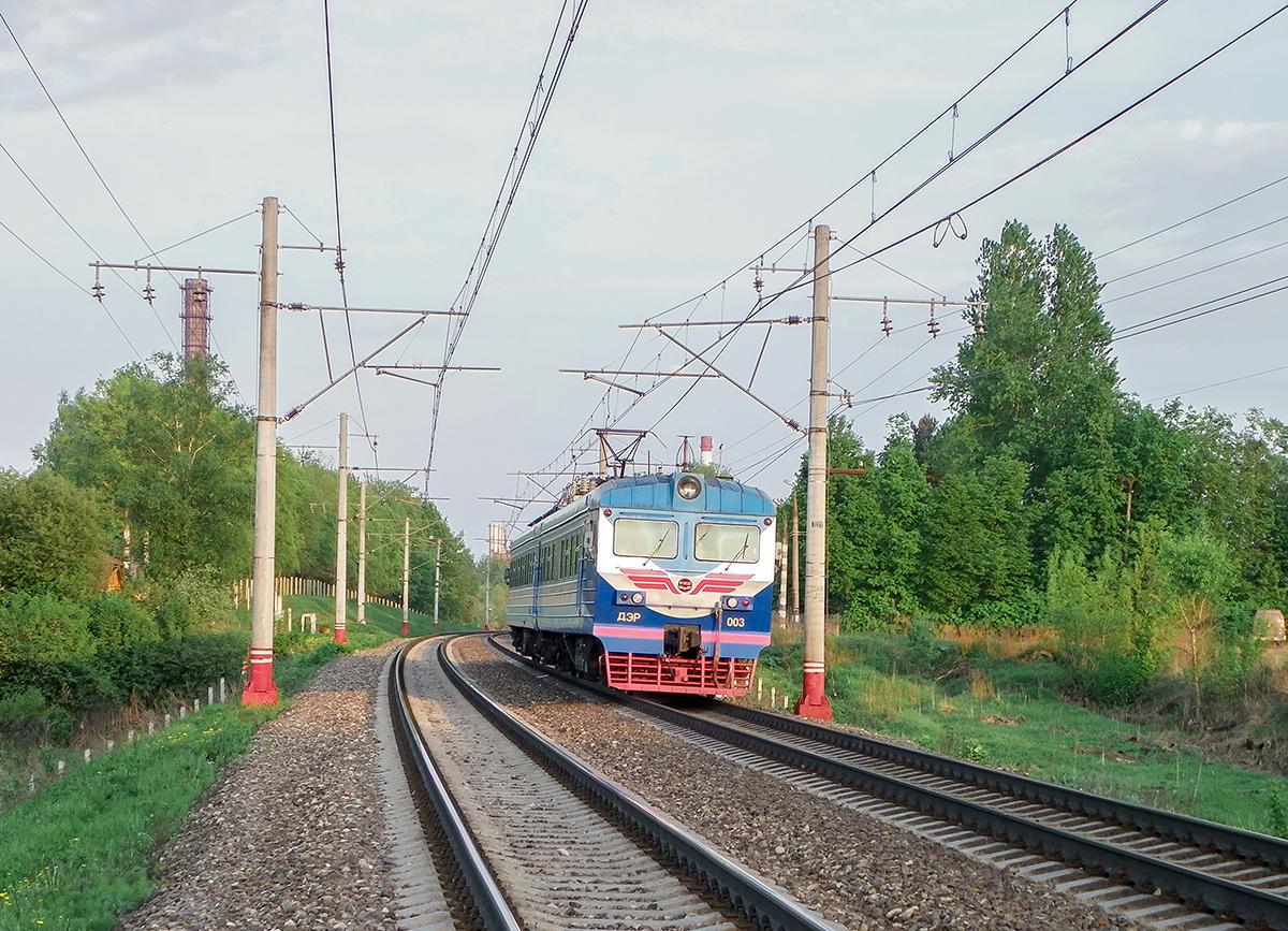 Электромотриса ДЭР-003 на перегоне Решетниково - Клин