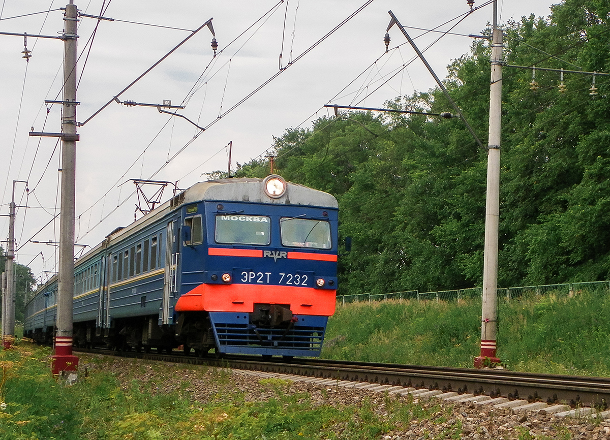 Электропоезд ЭТ2Т-7232 на перегоне Клин  - Подсолнечная