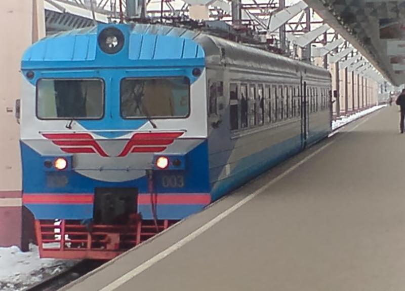Электромотриса ДЭР-003 на ст. Москва-Пассажирская (Ленинградский вокзал)