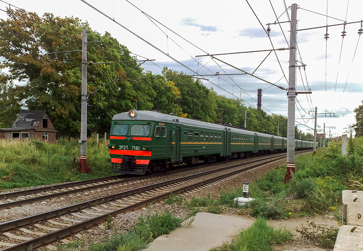 Электропоезд ЭР2Т-7161 на перегоне Клин - Решетниково