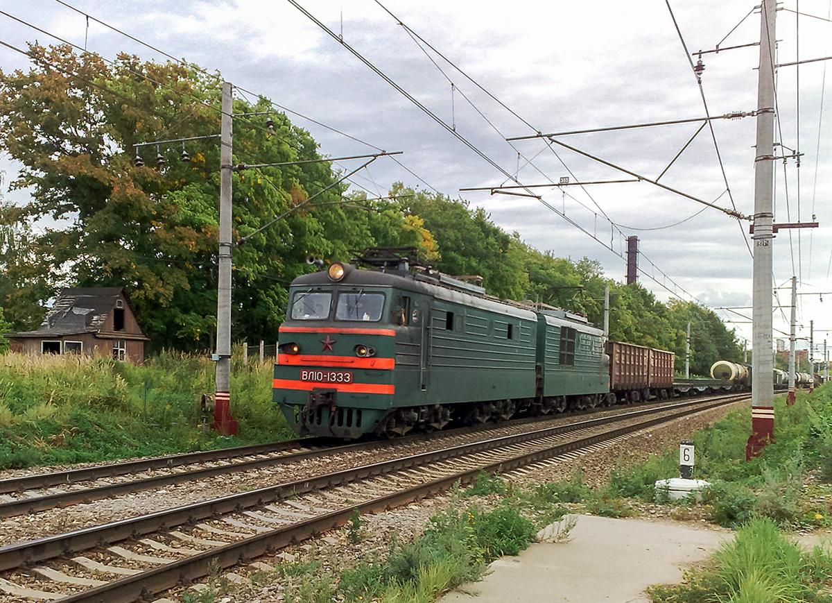 Электровоз ВЛ10-1333 с грузовым поездом, перегон Клин - Решетниково