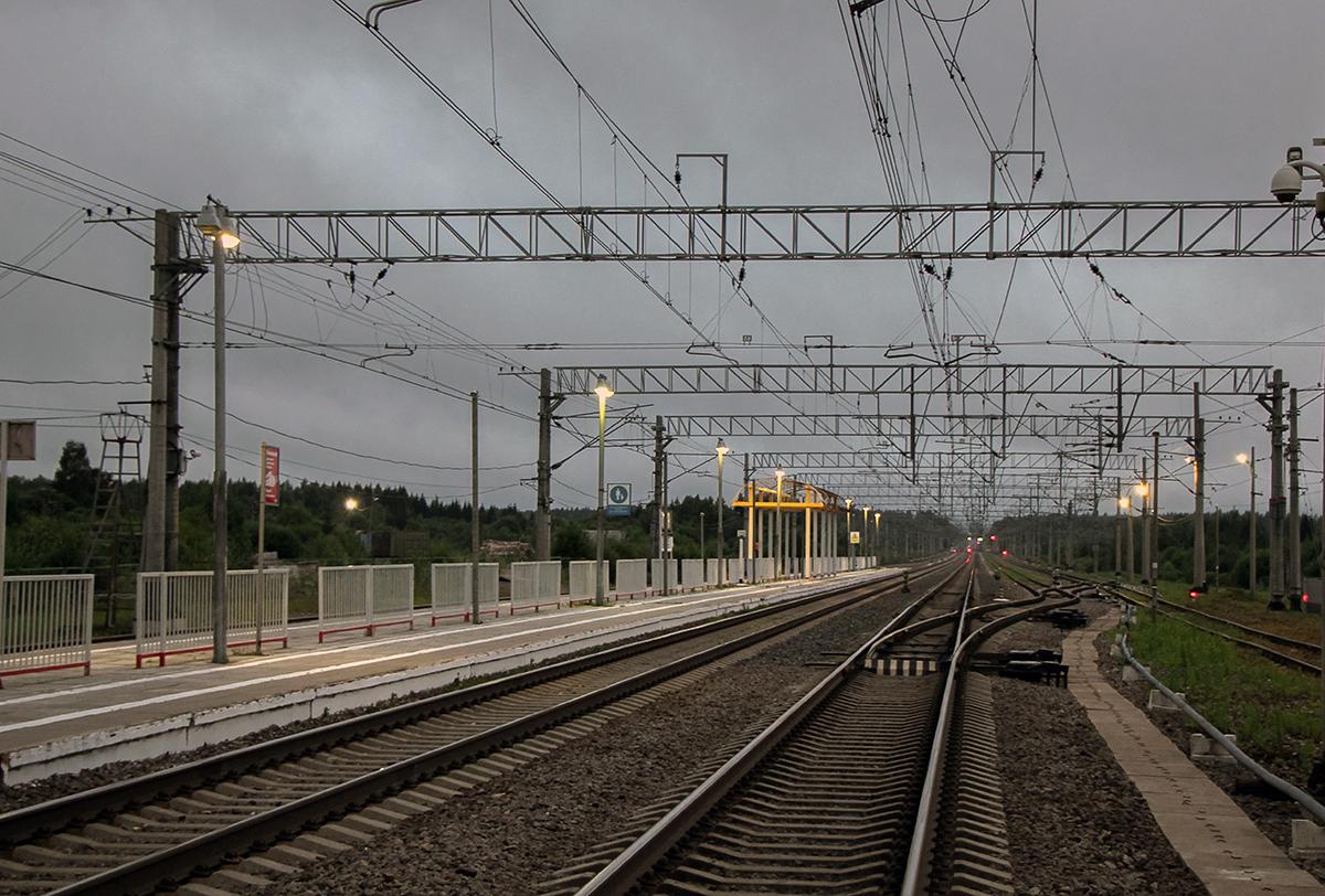 Вид от станции Торбино в сторону Санкт-Петербурга