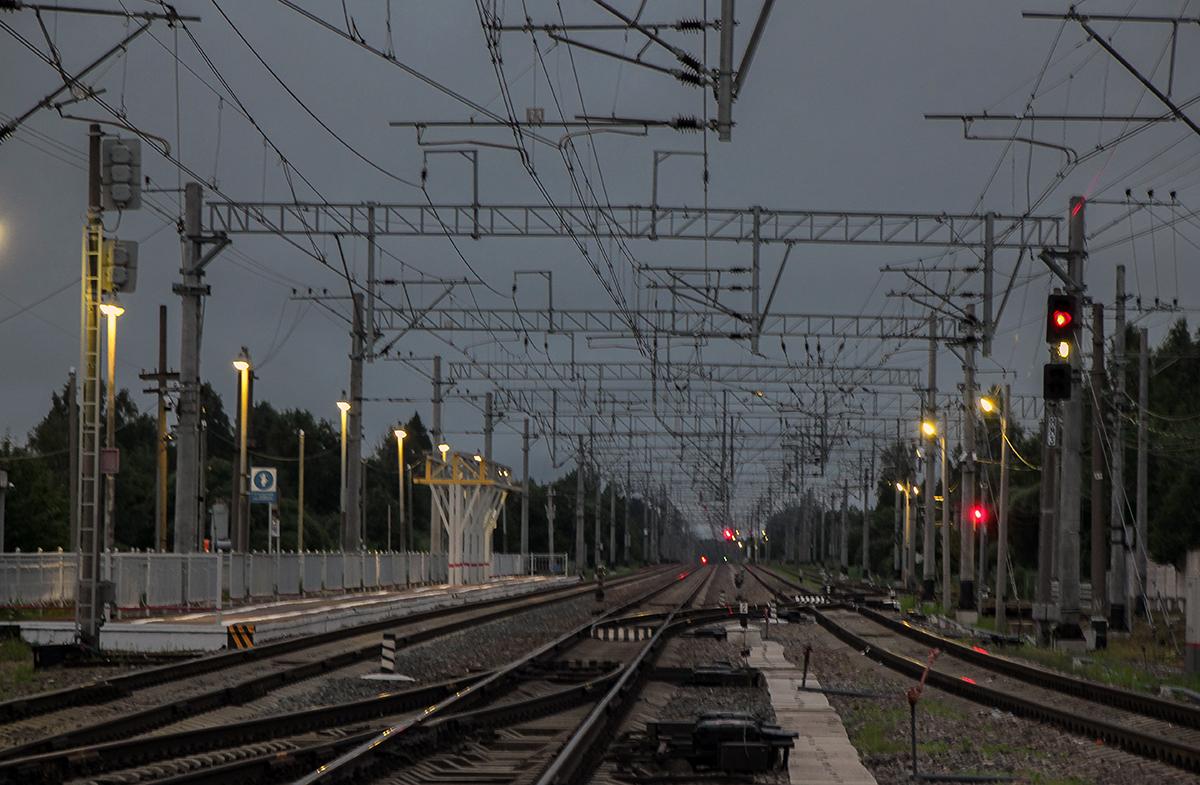 Вид от станции Торбино в сторону Москвы