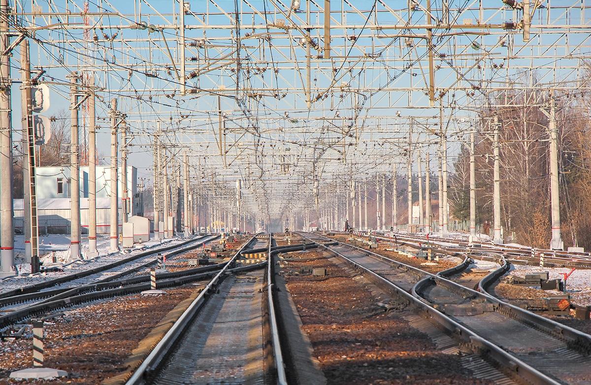Вид на станцию Поварово-I со стороны платформы Поваровка