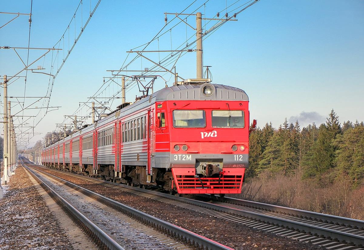 Электропоезд ЭТ2М-112, перегон Крюково - Поварово-I