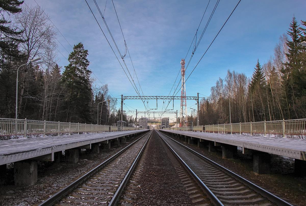 Платформа Радищево, вид в сторону платформы Поваровка