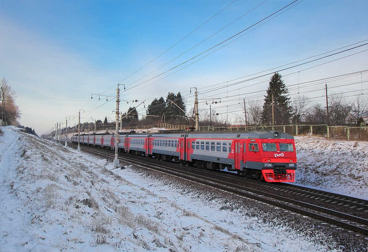 Электропоезд ЭТ2М-080, перегон Крюково - Поварово-I