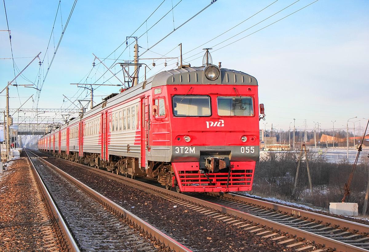 Электропоезд ЭТ2М-055, перегон Крюково - Поварово-I