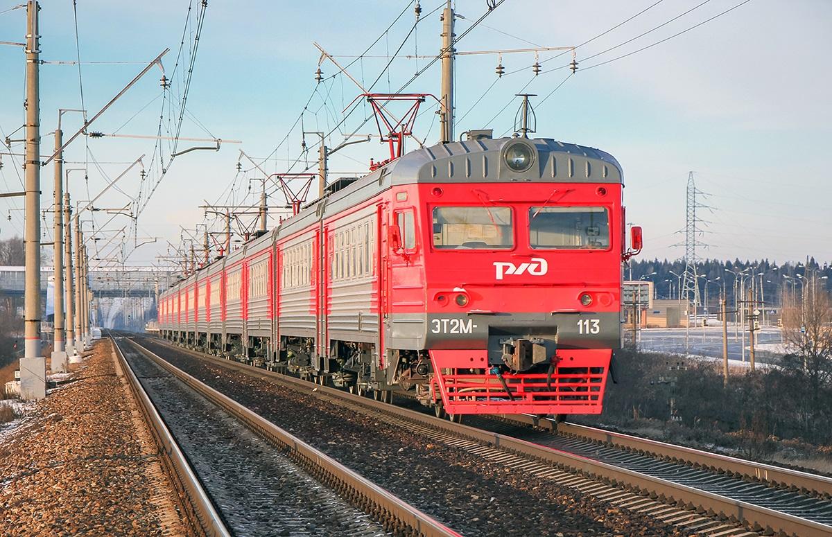Электропоезд ЭТ2М-113, перегон Крюково - Поварово-I