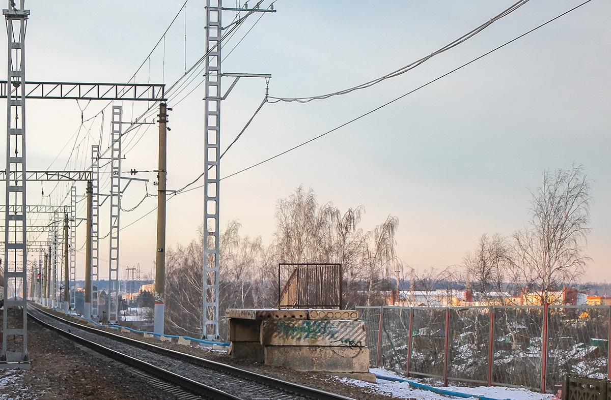 """Платформа 610 километр (служебная), """"из Москвы"""", станция Крюково"""