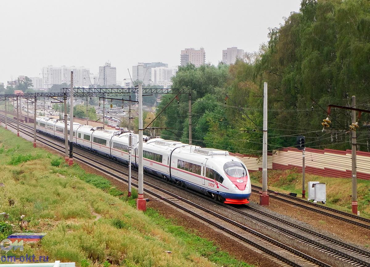 """Электропоезд ЭВС2-01 """"Сапсан"""", перегон Москва-Товарная - Ховрино"""