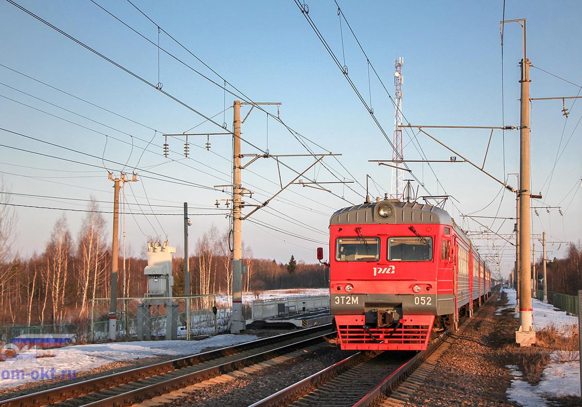 Электропоезд ЭТ2М-052, перегон Академическая - Бушевец