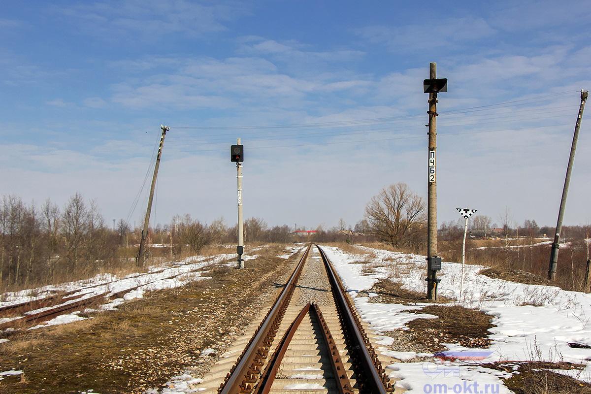 Вид в сторону станции Медведево