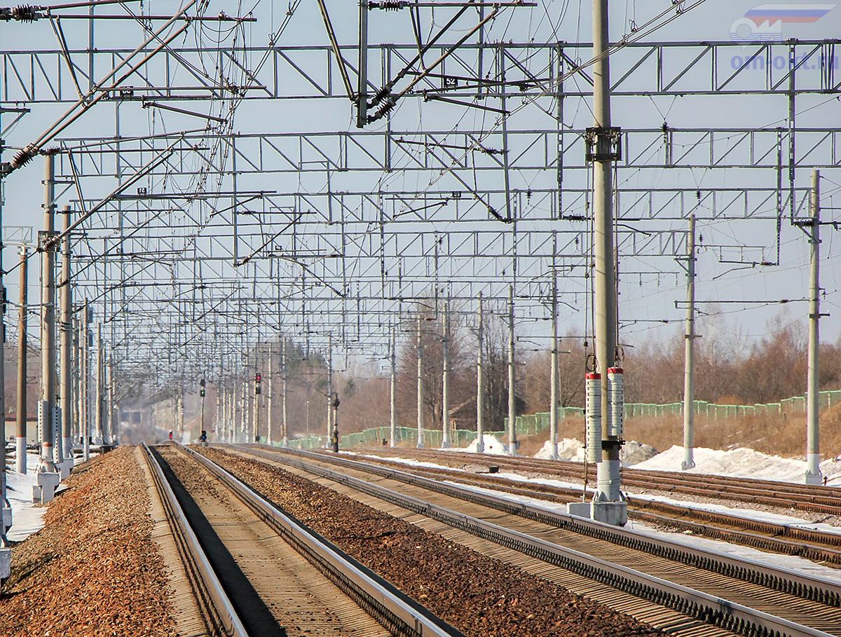 Вид от станции Бушевец в сторону Бологое-Московское