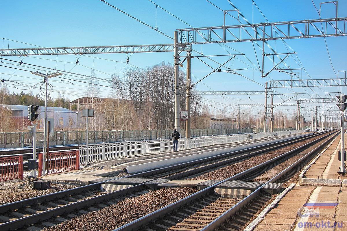 """Пассажирская платформа """"На Тверь"""", станция Бушевец"""