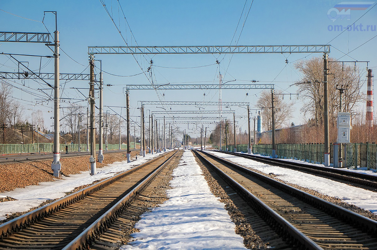 Грузовые пути станции Бушевец, вид в строну станции Академическая