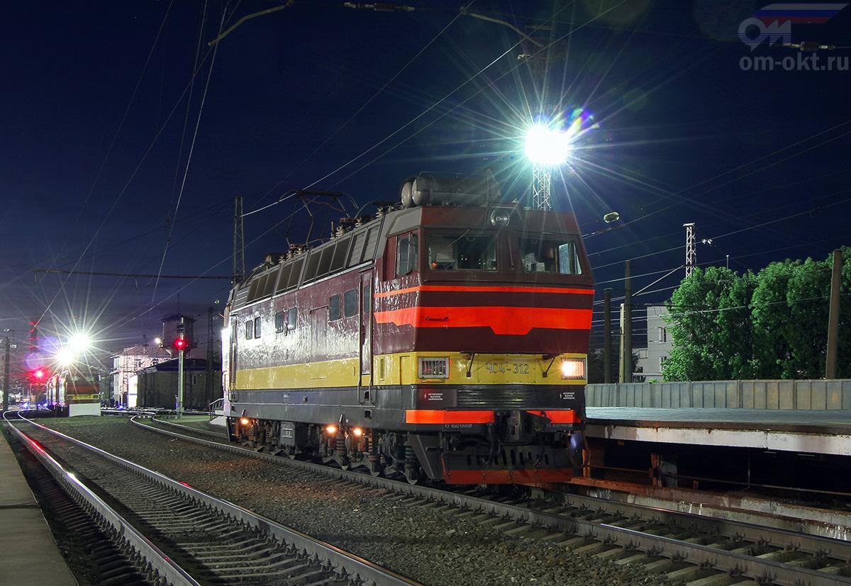 Электровоз ЧС4Т-312 на станции Владимир
