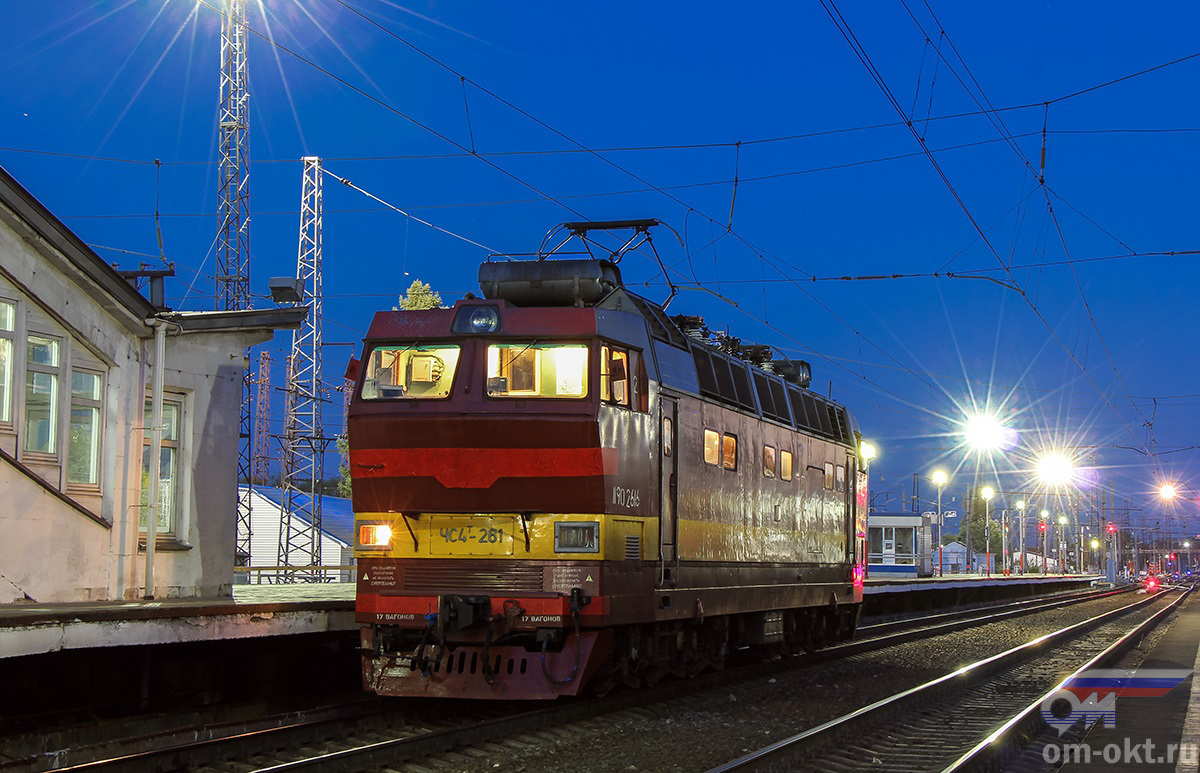 Электровоз ЧС4Т-261 на станции Владимир