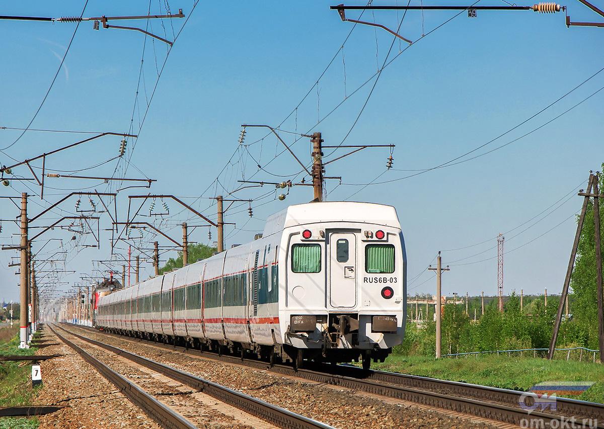 """Фирменный поезд """"Стриж"""" на перегоне блок-пост 243 км - Новки-I"""