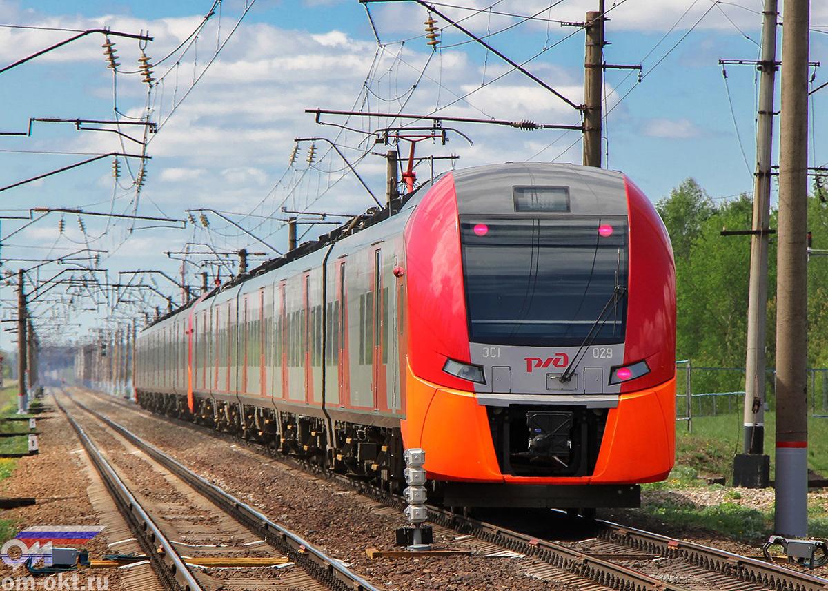 "Электропоезд ЭС1-029 ""Ласточка"", перегон блок-пост 243 км - Новки-I"