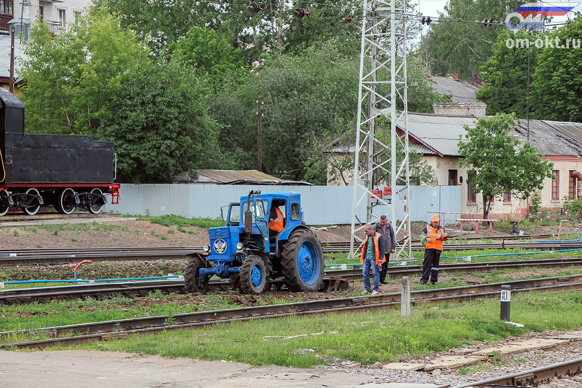 Путевые работы на станции Тверь
