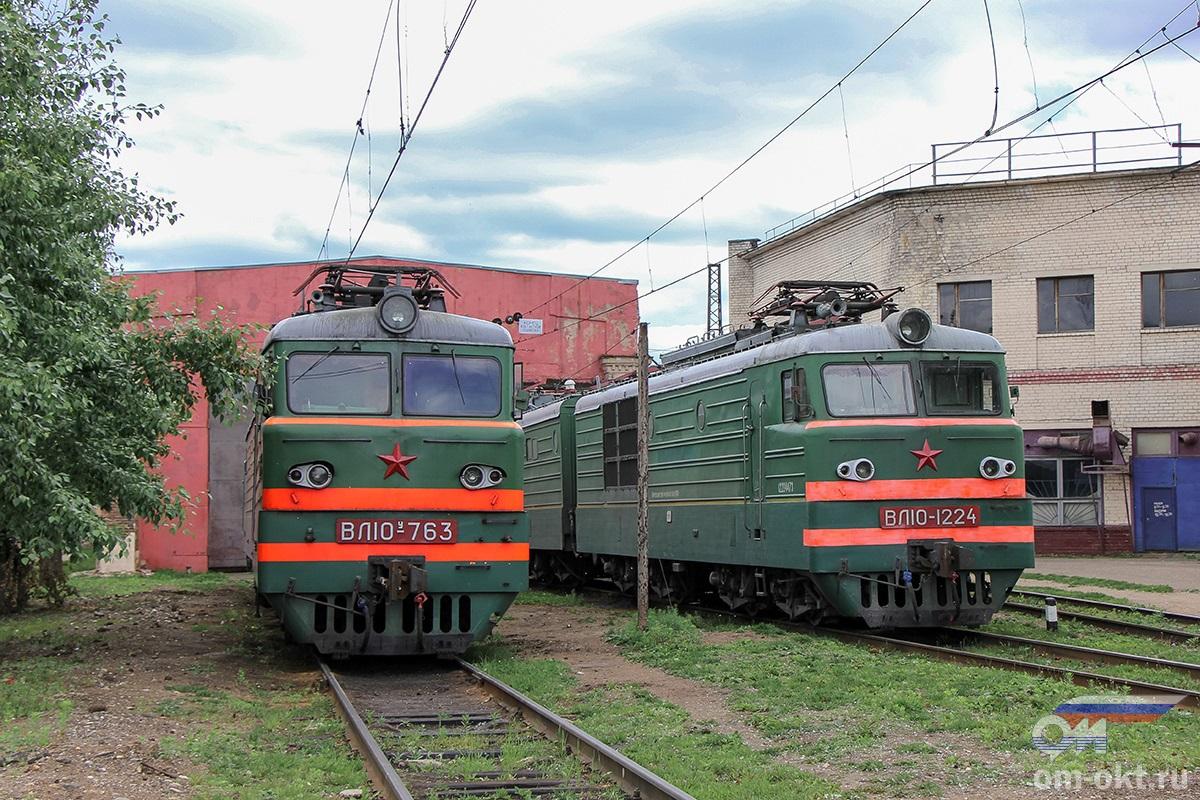 Электровозы ВЛ10У-763 и ВЛ10-1224, станция Тверь